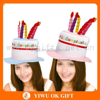 3D Happy Birthday Cake And Candle Hat Adult Hats Fancy