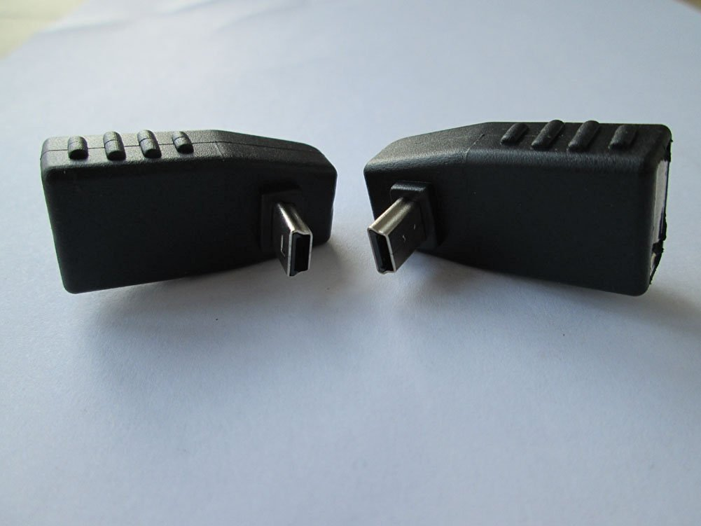 Pair up + Down Right Angle 90degree Mini USB B Male to USB a Female Host OTG Adapters