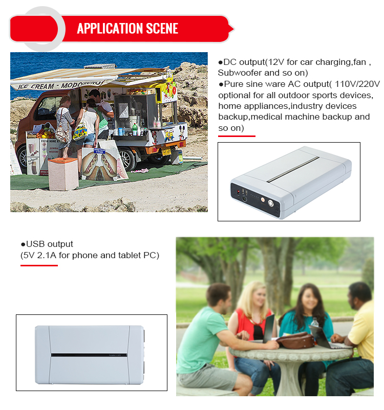 500W UPS backup type uninterruptible power supply/portable power supply with AC DC output for house/camping application