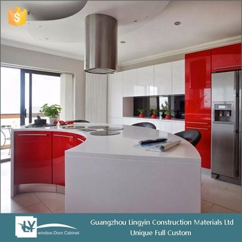 2016 Modern High Gloss Finish Kitchen Cabinets With Curved Design From China Supplier Buy High Gloss Finish Kitchen Cabinet Kitchen Cabinets With