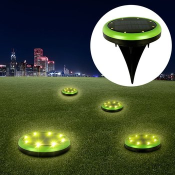 8 Led Solar Lights Outdoor Garden Ground For Yard Driveway Lawn Pathway Water Resistant