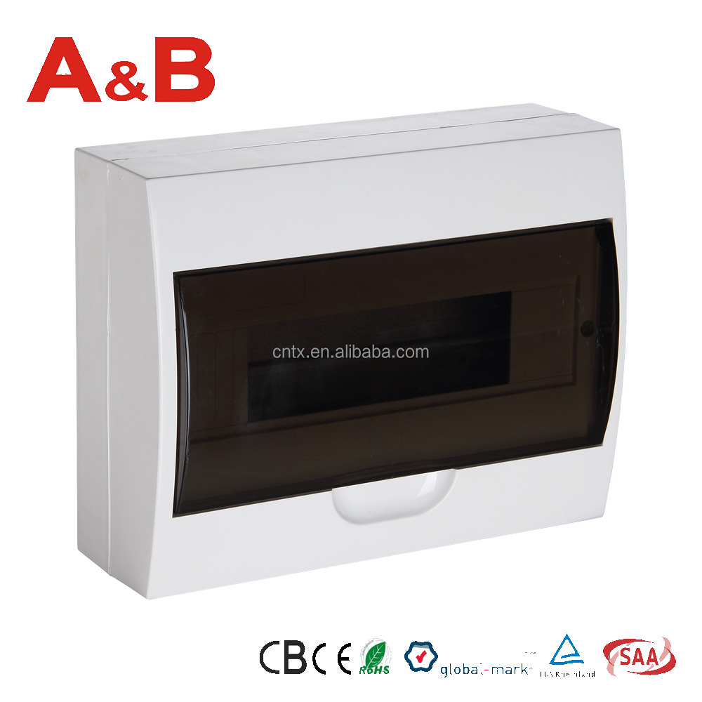 12 way surface mounted electrical distribution board%