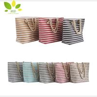 China factory Striped paper straw beach bag