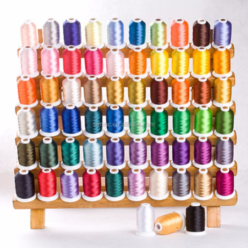 Polyester embroidery machine thread, home embroidery thread -- ideal for home machine and commercial machine