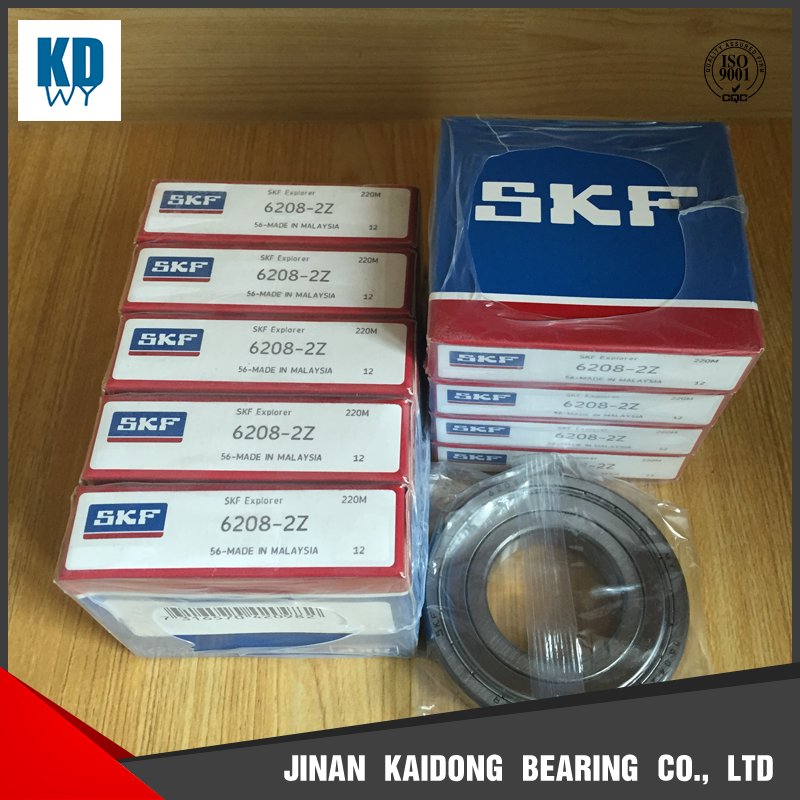 original SKF bearing deep groove ball bearing 6208-2Z 6208 bearings size 40*80*17mm