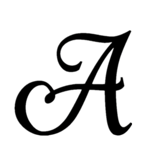 Acrylic Initial Letter A Monogram Personalized Wedding Cake Topper Unique Cake Topper