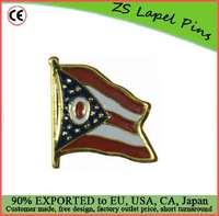 Custom high quality Ohio Flag Lapel Pin