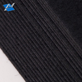wholesale customized 250gsm double side coated black cardboard paper