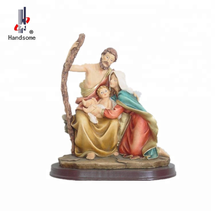8.5 Inch High Quality Guardian Angel Resin Religious Holy Family Crafts
