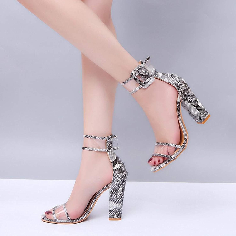 High Heels Sandals,Clearance! AgrinTol Womens Ladies Block Ankle Platforms Shoes Buckle High Heels Sandals