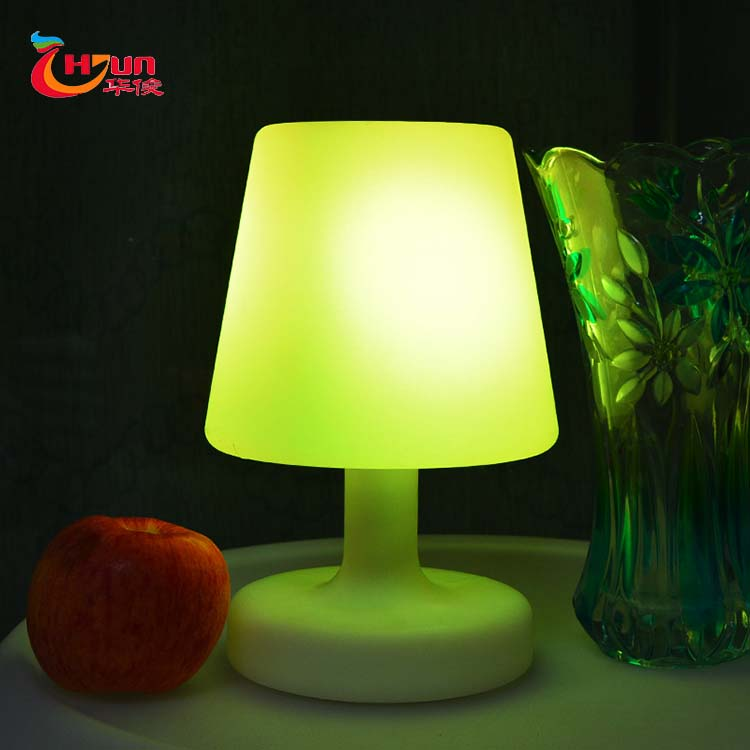 Cheap small plastic glowing reading lamp battery LED table lamp