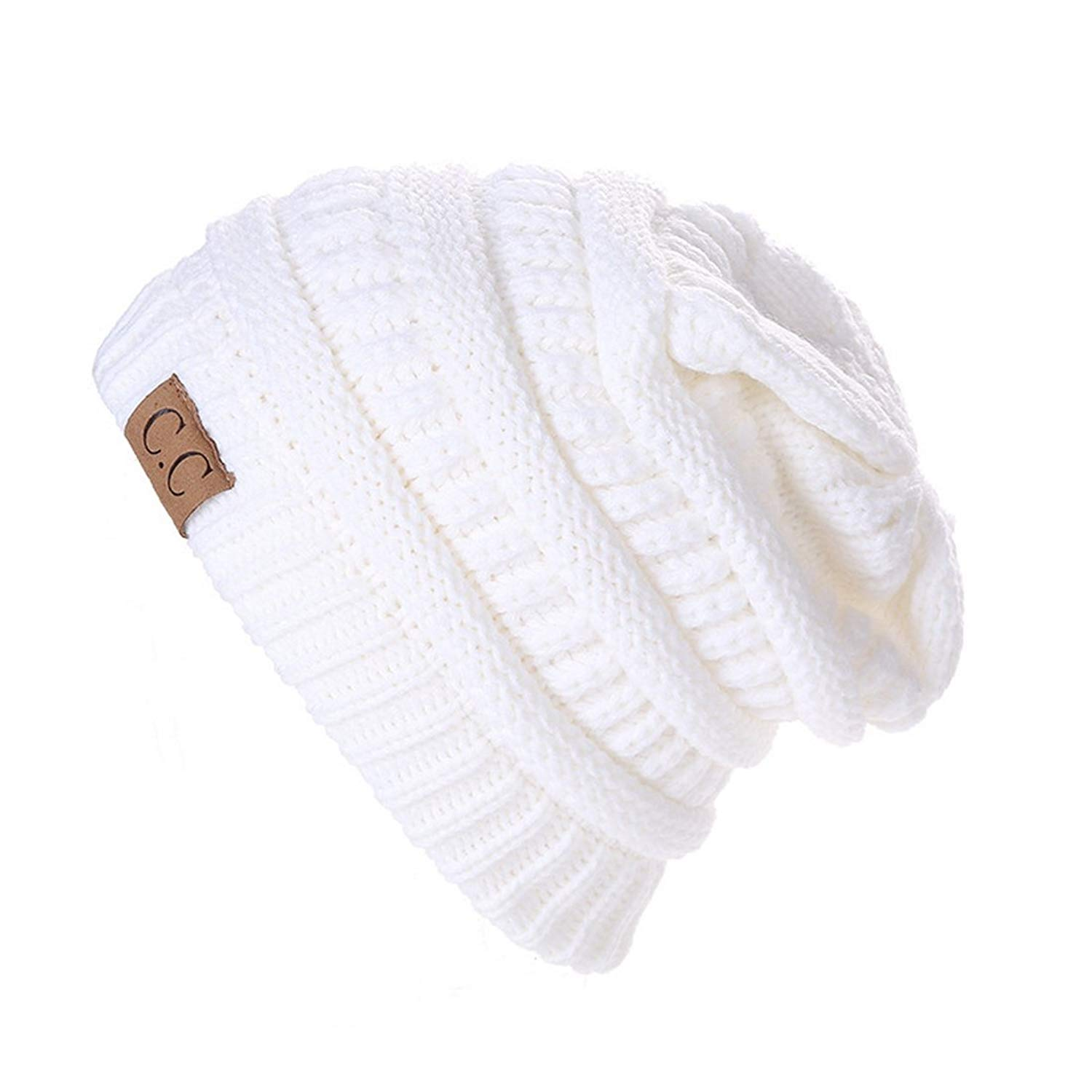 58ee0d9cf58c7 Get Quotations · King Star Mens Winter Baggy Beanie Slouchy Oversized Knit  Skull Cap Hat