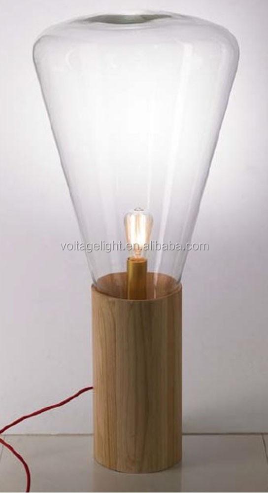 Modern Edison Bulb Standing Lights Transparent Glass Shape Natural ...