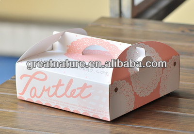 Printed paper box ecofriendly customized box colorful box with handle
