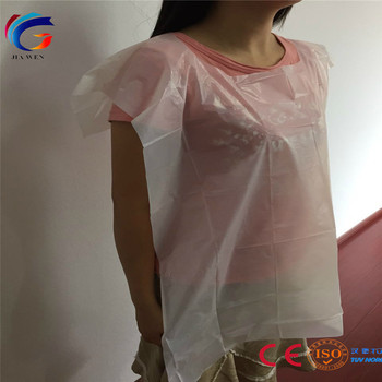 CE ISO9001 Factory Food handing service disposable adult bib
