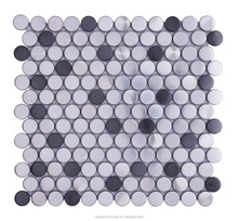 Round shape silver stainless steel mosaic for wall tiles