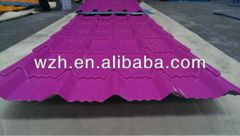 Pink Purple Corrugated Steel Roofing Sheets Roofing