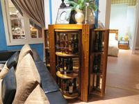 WE1001- Wine storage lock cabinet wood frame living room furniture