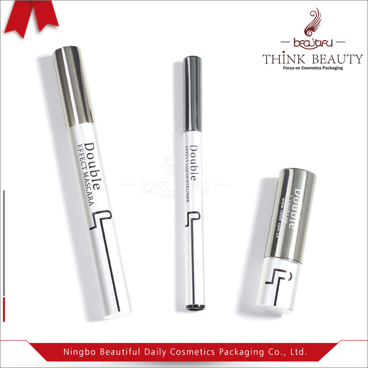 Unusual matches 9ml/3.8g/1.5ml mascara lipstick bottle/liquid eyeliner pen container cosmetic sets tubes