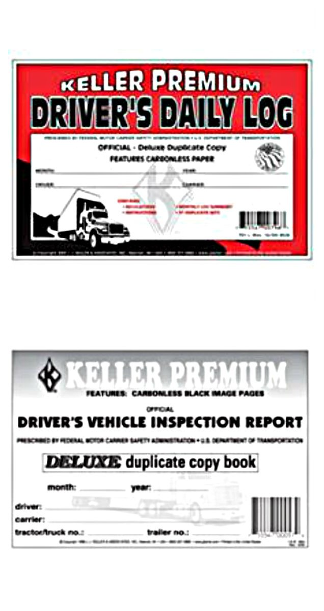 J.J. Keller - Bundle - 2 Items: Detailed Driver's Vehicle Inspection Report, 2-ply, Carbonless(115B) and 8526 Driver's Daily Log Book(701L)