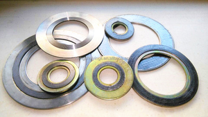 Flexible ss304 graphite spiral wound gaskets for flange with inner ring stainless steel