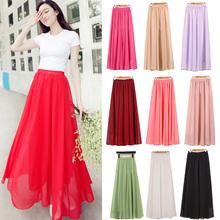 Maxi dlouhá dámská sukně nejen na léto v různých barvách z Aliexpress