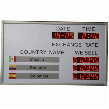 Usa Dollar Exchange 0 8inch Led Digital Currency Rate Board Display