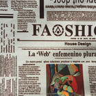 pvc coated polyester oxford fabric newspaper print