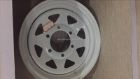 14*6inch white trailer wheel 8spoke e-coating powder coating camper trailer wheel caravans rims