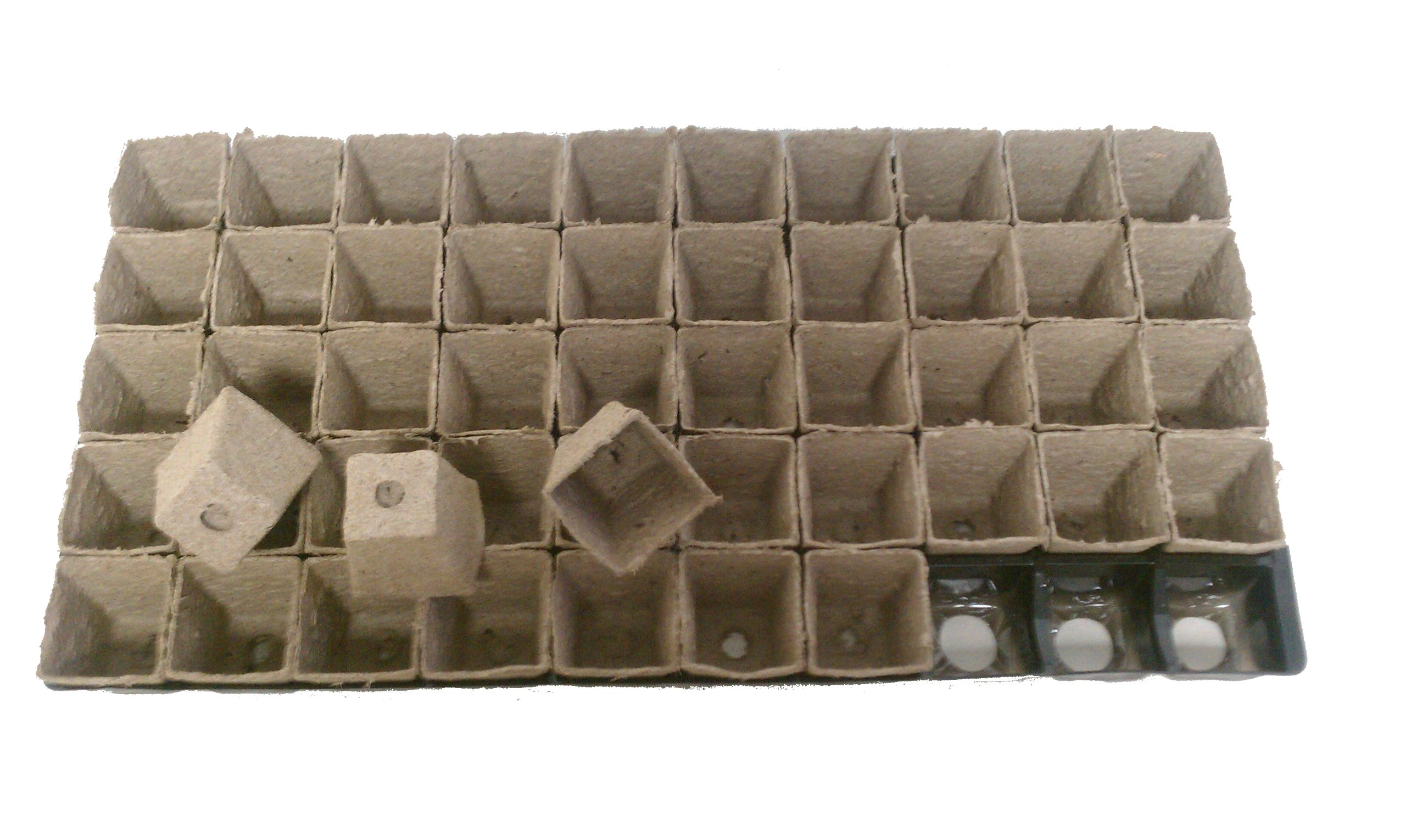 250 Square Jiffy Peat Pots Size 2x2 - Jiffy Poly Pak ~ Pots Are 2 Inch Square At the Top and 2 Inch Deep.