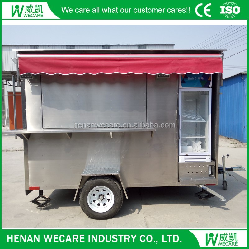 Top quality and hot selling portable mobile fiberglass food kiosk
