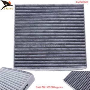 Top white fiber square shape ac cabin filter 87139-30040 for toyota corolla camry highlander haice