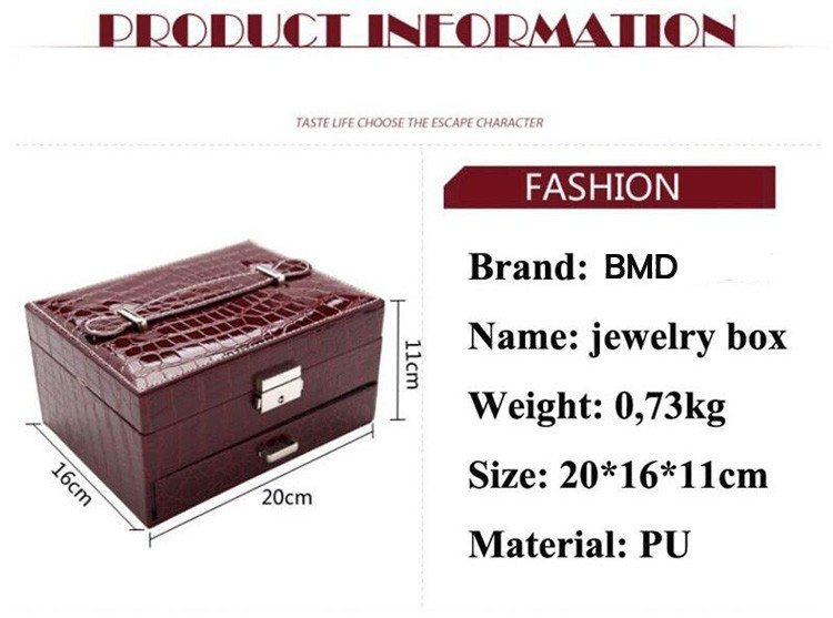 Factory Direct Sale Accept Oem Leather Jewelry Box Manufacturers