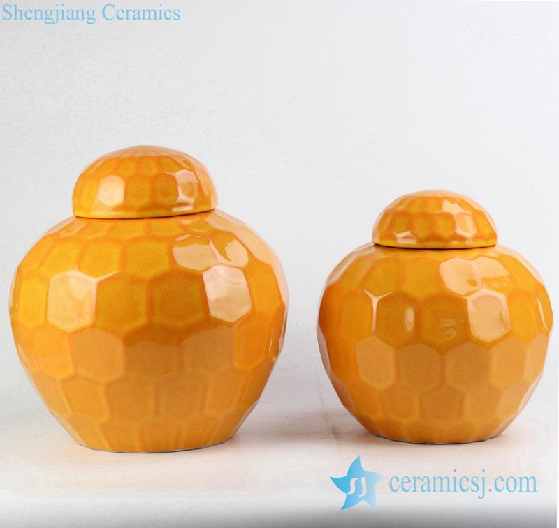 Rykb149 Mustard Warna Polos Desain Hexagon Keramik Mini Penyimpanan Jar Buy Kecil Jar Cina Kecil Jar Keramik Indah Jar Keramik Product On Alibaba Com