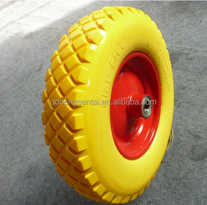 400mm wheelbarrow rubber wheel 400x8