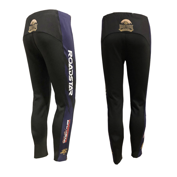 Roadstar OEM & ODM roller inline speed skating warmer up zipper pants