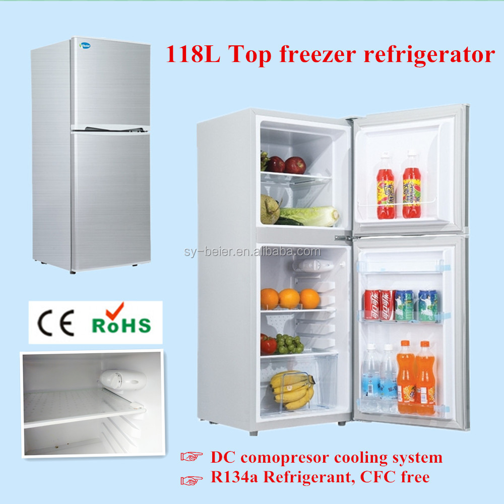 Double Door Series top freezer Home Refrigerators with CE