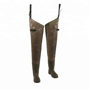 Lightweight Waterproof Fishing Boots Felt Bottom Hip Waders for Hunting