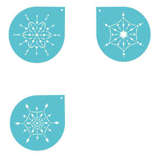 Christmas snowflake cake stencils cookie decorating stencils