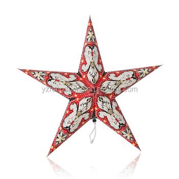 led light star lanternchristmas favor paper star decorationshanging india paper star lamp