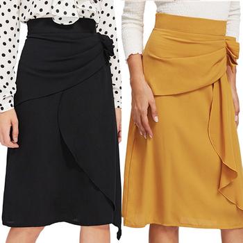 a7b0d8deb Mujeres Casual Moda Falda Elegante Falda Larga De Gasa - Buy Tienda De Ropa  En Línea,Oficina Falda,Mini Falda De Verano Product on Alibaba.com