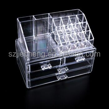 High quality 3 tier mac crystal acrylic makeup organizer with handle