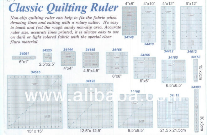Classic Quilting Rulers - Buy Sewing/quilting/patchwork Product on ... : quilting rulers - Adamdwight.com