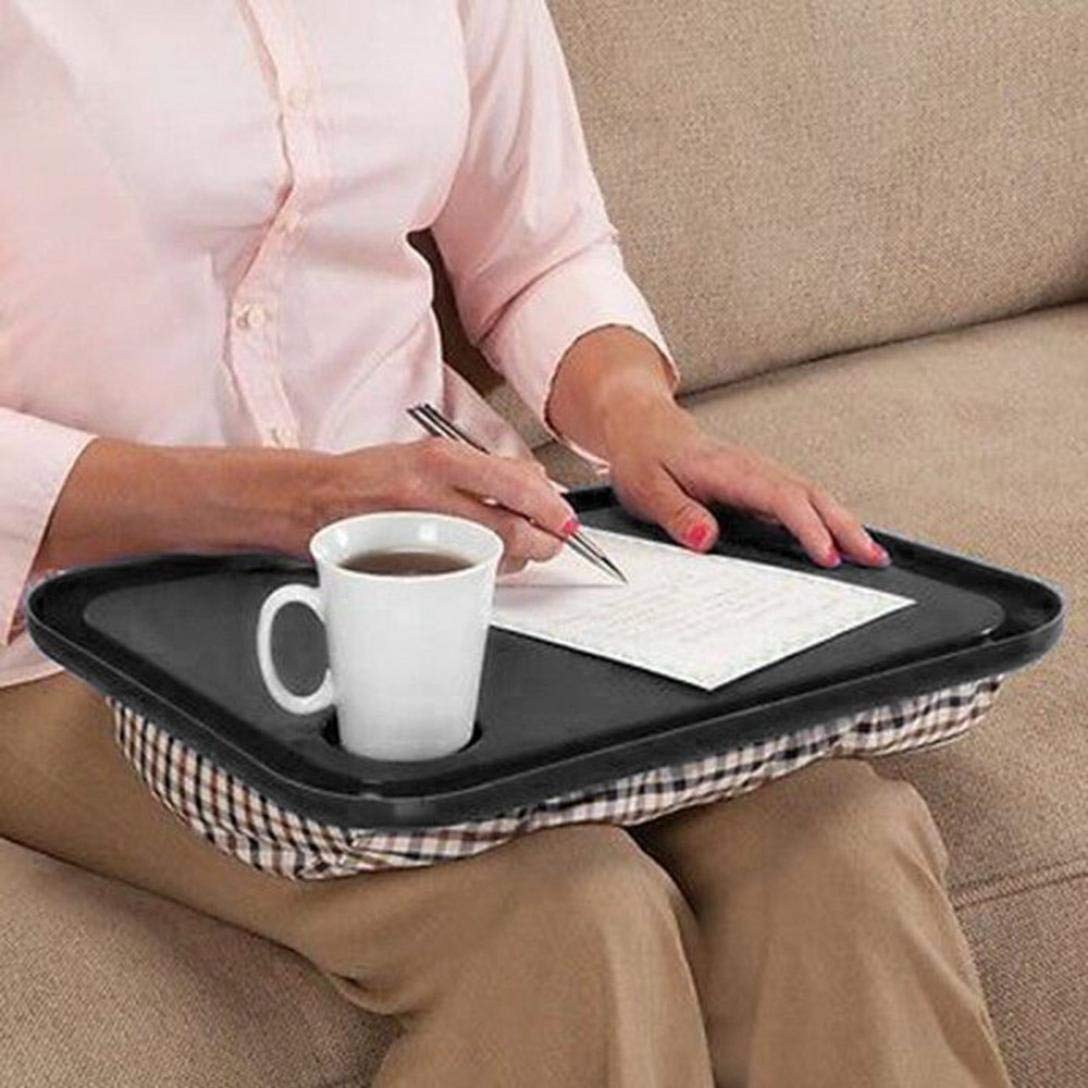 "Oksale Lap Desk For Laptop Chair Student Studying Homework Writing Portable Dinner Tray, 17"" X 13"" X 2.5"" (Black)"