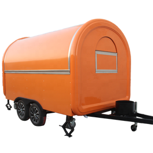 China Supplier dual spindle orange street mobile food cart / fast food truck / food trailer