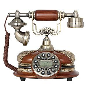 Stylish antique phone vintage creative imitation wood plane antique telephones