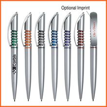 Promotional Cheap Plastic High-tech Spiral Design Ball Pen Supplier