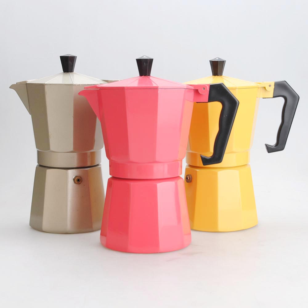 2018 Ogniora New Design Customized Classical Aluminum Espresso coffee maker Moka Pot