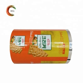 High quality printed food grade plastic film roll for cookie biscuit