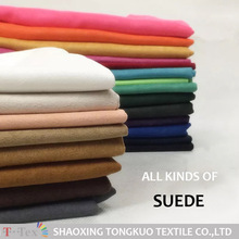 T-TEX pink custom colors high quality suede fabric,sherpa suede fabric
